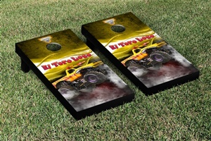 Monster Jam El Toro Loco Yellow Cornhole Game Set Smoke Version