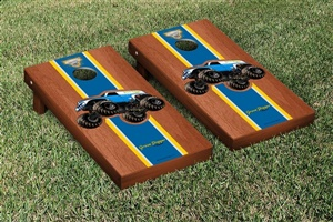 Monster Jam Grave Digger The Legend Cornhole Game Set Rosewood Stained Version