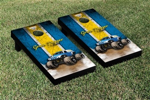 Monster Jam Grave Digger The Legend Cornhole Game Set Vintage Version