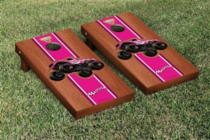 Monster Jam Madusa Cornhole Game Set Rosewood Stained Stripe Version
