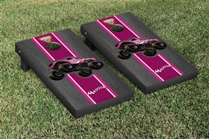 Monster Jam Madusa Cornhole Game Set Onyx Stained Stripe Version