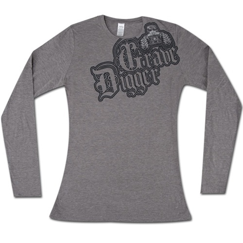 Grave Digger Ladies LS Shoulder Tee