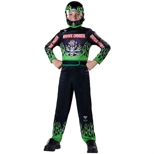 Boys Grave Digger Driver Costume