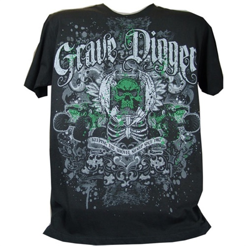 Grave Digger Crest Tee