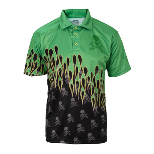 Grave Digger Flaming Skulls Polo