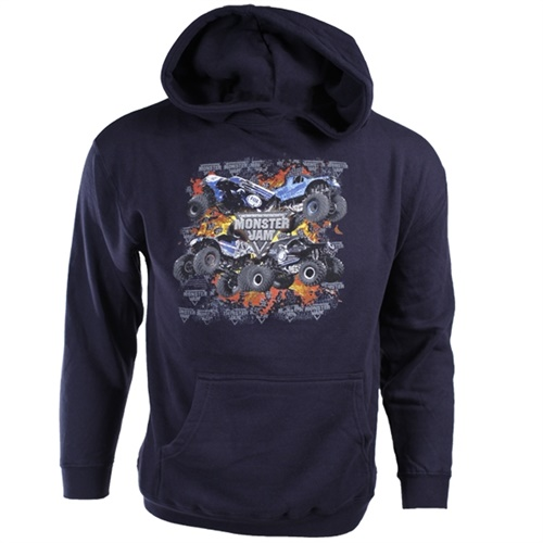 Monster Jam Navy Blue Youth Hoodie