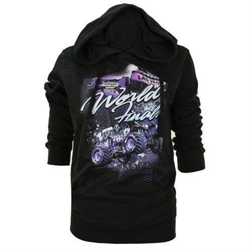 World Finals XVIII Script Ladies Black Hoodie