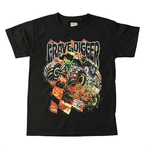 Grave Digger CheckFlame Youth Tee