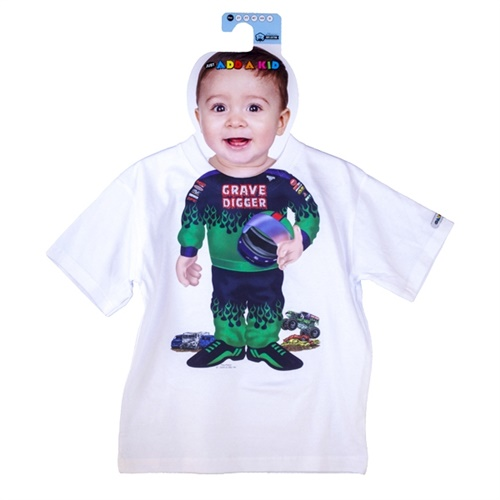 Monster Jam Grave Digger Driver Suit Kids Tee
