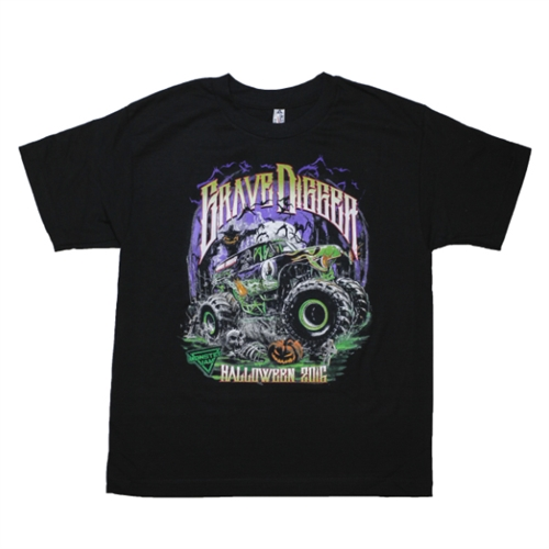 Grave Digger Halloween Youth Tee