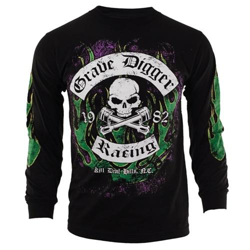 Grave Digger Rockers Long Sleeve Youth Tee