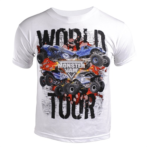 Monster Jam Series 2015 White Youth Tee