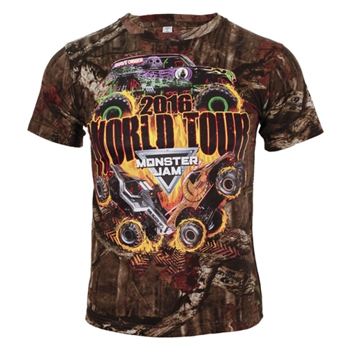 Monster Jam Series 2016 Camo Youth Tee