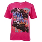 Monster Jam Series Pink Youth Tee