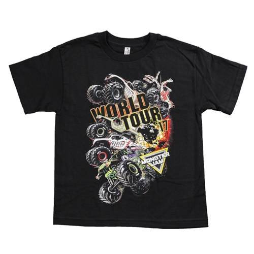 Monster Jam Series 2017 Black Youth Tee