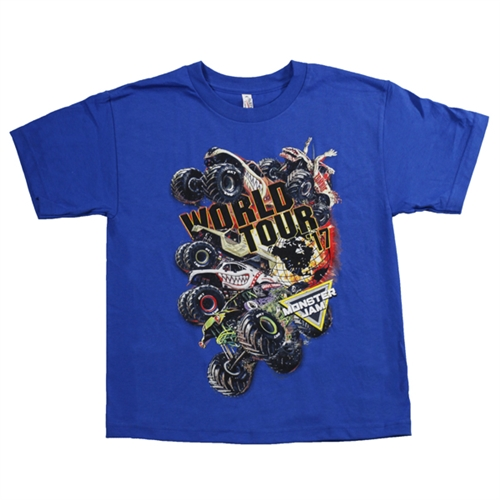 Monster Jam Series 2017 Blue Youth Tee