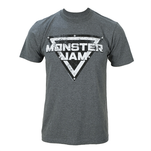Monster Jam Distressed Grey Tee