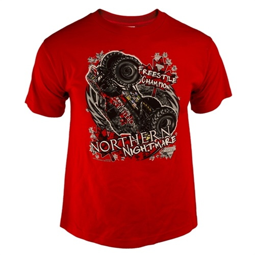 Northern Nightmare Champ Red Youth Tee