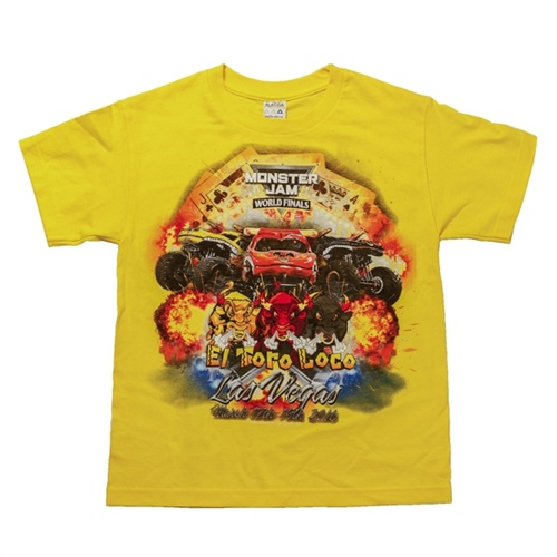World Finals XVII Team El Toro Loco Youth Yellow Tee