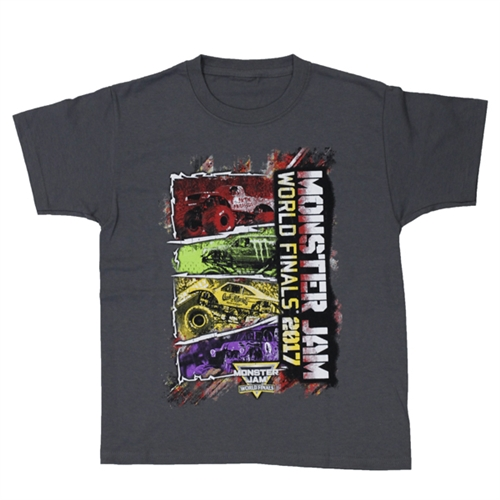 World Finals XVIII Color Block Grey Youth Tee