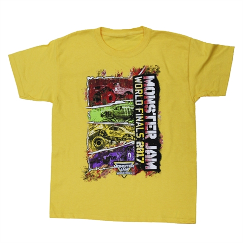 World Finals XVIII Color Block Yellow Youth Tee