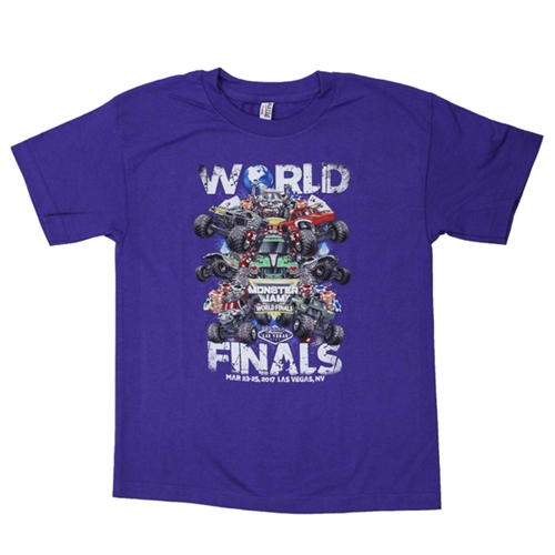 World Finals XVIII Grunge Purple Youth Tee