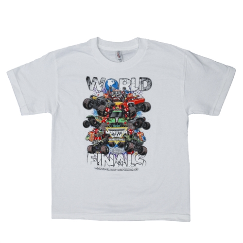 World Finals XVIII Grunge White Youth Tee