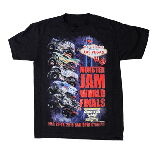 Monster Jam World Finals Wheelie Youth Tee