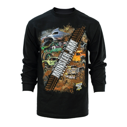 Monster Jam Slash Long Sleeve Tee