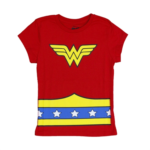 Wonder Woman Girls Caped Tee
