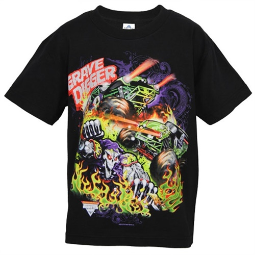 Grave Digger Youth Blaze Tee