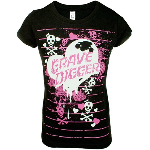 Grave Digger Girls Heart Attack Tee