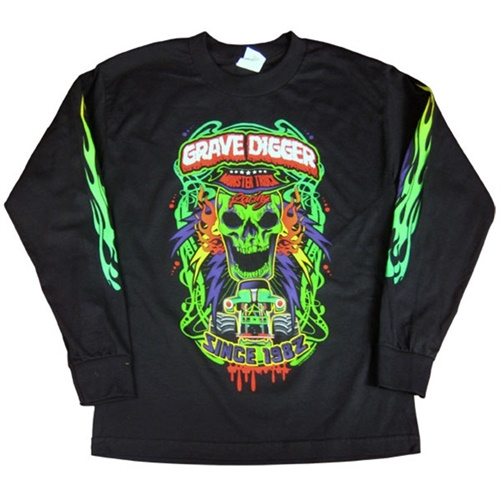 Grave Digger Youth Long-sleeve Poster Tee
