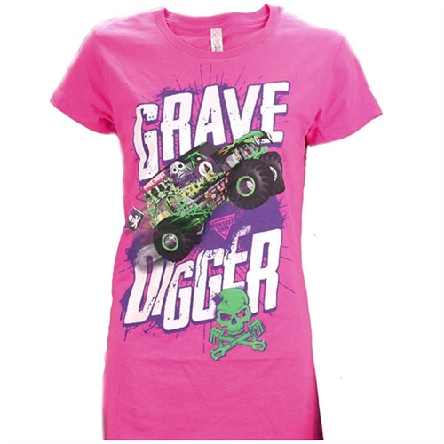 Grave Digger Ladies In Action Tee