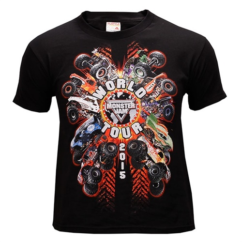 Monster Jam Youth Series Tee - Black