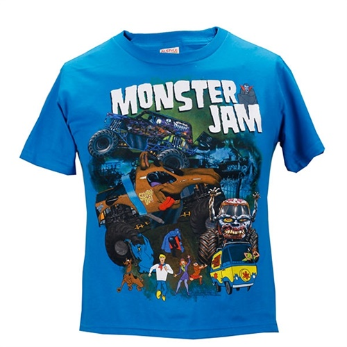 Monster Jam Youth Series Tee - Turquoise