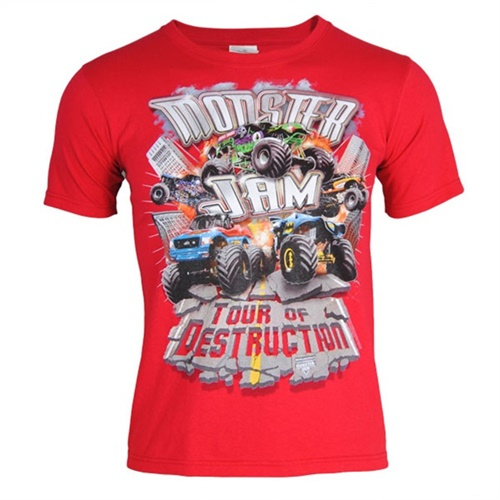 Monster Jam Youth Series Tee - Red