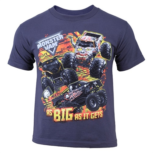 Monster Jam Youth Series Tee - Gray