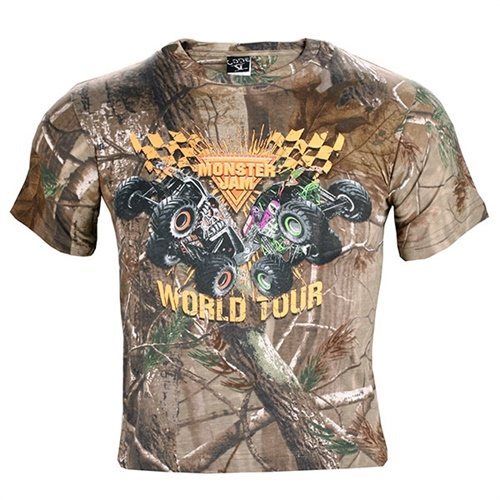 Monster Jam Youth Series Tee - Camo