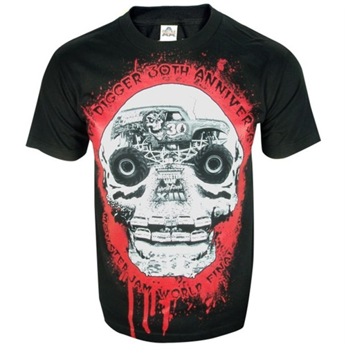 World Finals XIII Grave Digger 30th Skull Tee
