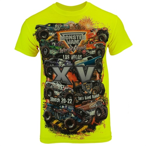 World Finals XV Danger Zone Safety Green Tee