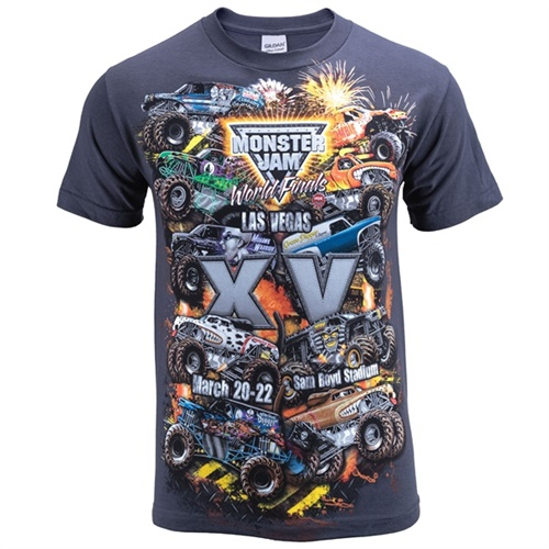 World Finals XV Danger Zone Gray Tee