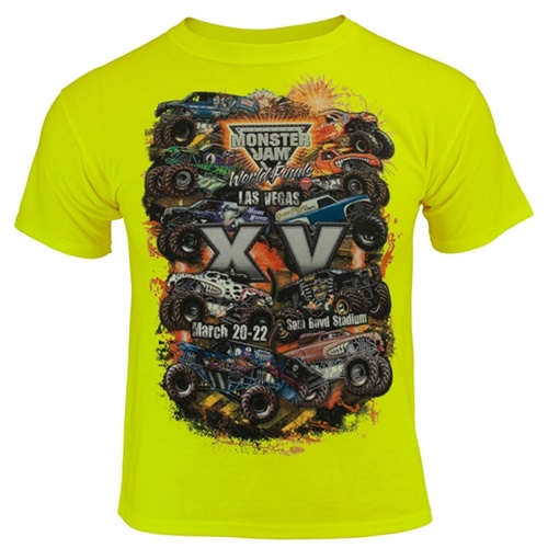 World Finals XV Danger Zone Youth Safety Green Tee