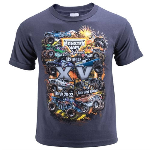World Finals XV Danger Zone Youth Gray Tee