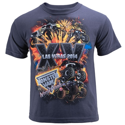World Finals XV Stackem Youth Gray Tee