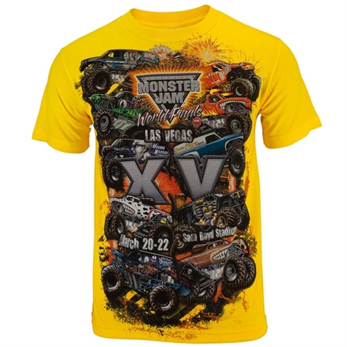 World Finals XV Danger Zone Yellow Tee