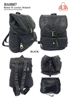 BA0007 - Washed PU Leather Anti-thief Back Zipper Backpack - (24pcs per case)