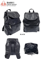 BA0011 - Washed PU Leather Backpack - (24pcs per case)