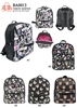 BA0013 - Digital Print Anti-thief Zipper Fashion Backpack (24pcs per case)