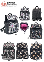 BA0014 - Digital Print Anti-thief Zipper Fashion Backpack (24pcs per case)